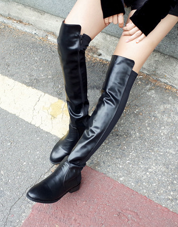 dimple long slim-boots