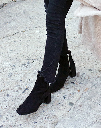 equine square suede-boots
