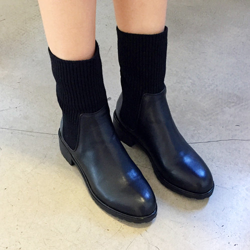 feign knit ankle-boots