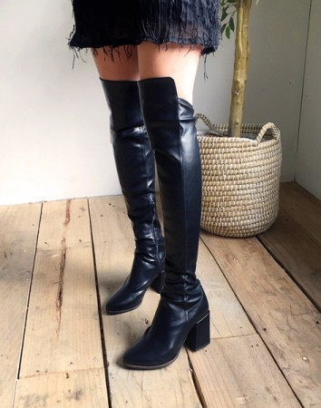 sear thigh high-boots
